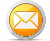 邮件黄色圆圈图标。矢量插画. — 图库矢量图片