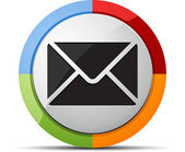 Web icon - email — Stock Vector