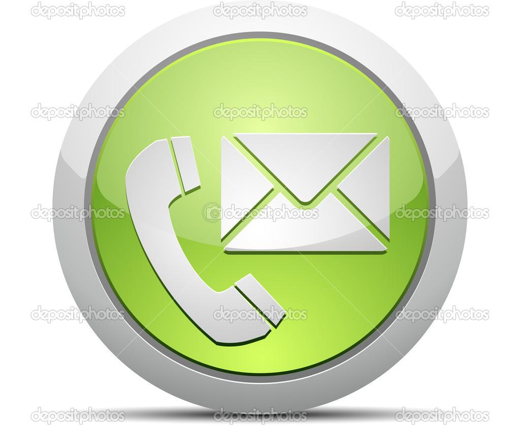 Tel fono y correo electr nico vector icono vector stock for Telefono oficina de correos
