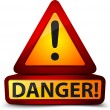 Exclamation danger sign — Stock Photo #17617949