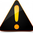 Exclamation danger sign — Stock Photo #17618013