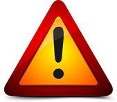 ünlem tehlike işareti — Stok fotoğraf