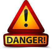 Signo de exclamación peligro — Foto de Stock