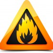 Flammable sign — Stock Vector