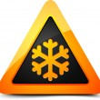 Stock Vector: Cold Warning Sign
