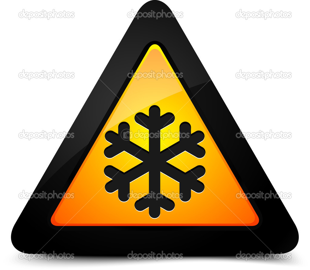 Cold Warning Sign — Stock Vector #18419445