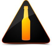 Beer Warning Sign — Stock Vector
