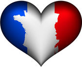 France heart — Stock Vector