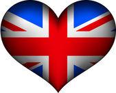 United Kingdom heart — Stock Vector