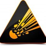 Meteor Hazard Sign — Stock Vector