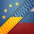 EU Ukraine Russia — Stock Photo