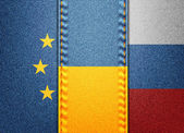 EU Ukraine Russia — Stock Vector