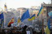 EuroMaidan Barricades — Stock Photo