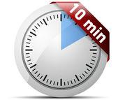 Temporizador de 10 minutos — Vector de stock