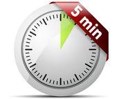 5 Minutes Timer — Cтоковый вектор