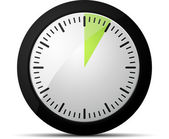 Temporizador de 5 minutos — Vector de stock