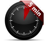 5 Minutes Timer — Stock Vector