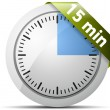 15 Minutes timer — Stock Vector #47730781