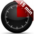 15 Minutes timer — Stock Vector #47730827