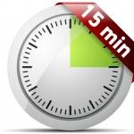 15 Minutes timer — ストックベクタ