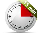 Temporizador de 15 minutos — Vector de stock