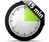 15 Minutes timer — Stock Vector