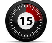 15 分钟计时器 — 图库矢量图片