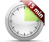 15 dakika zamanlayıcı — Stok Vektör