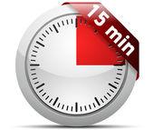 15 minuten timer — Stockvektor
