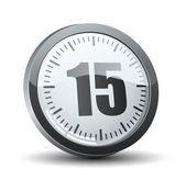 15 分タイマー — ストックベクタ