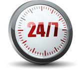 24 7 service button — Vettoriale Stock