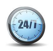 24 7 service button — Stock vektor