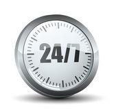 24 7 service button — Stockvektor