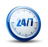 24 7 service button — Stock Vector