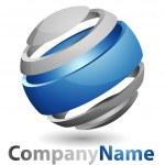 3D abstract Logo — Stock Vector #7921031