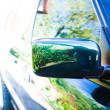 Angle shot of a car with reflection — Stock Photo
