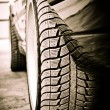 Stylized photo of the car's details. Wheel — Stock Photo #12551024