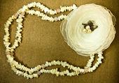 White decorative flower — Stock Photo