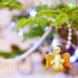 Wooden christmas angel - Stock Photo