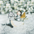 Silver christmas angel — Stock Photo