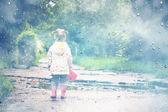 Stylized photo of little girl — Stock Photo
