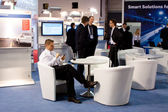 VIENNA - OCTOBER 26: Visitors on the Bosch stand at the 19th Int — Stock Photo