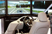 VIENNA - OCTOBER 26: Driving simulator at the 19th Intelligent — Stock Photo