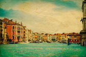 Stylized photo of Grand Canal in Venice — Stock Photo