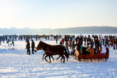 """TERNOPIL-FEBRUARY 12: on the celebration """"The winter day"""" — Stock Photo"""