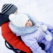 Children in winter outdoors — Stock Photo
