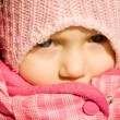 Stock Photo: Little girl in winter outdoors