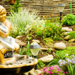 Stock Photo: Lanscape design of home garden