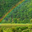 Rainbow on the river Dniester, Ukraine — Stock Photo