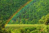 Rainbow on the river Dniester, Ukraine — Stock Photo